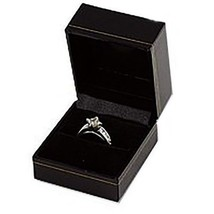 Black Ring Gift Boxes Classic Leatherette Wholesale 1 2 6 12 24 48 96 14... - $14.84+