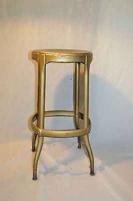 Vtg Industrial Metal Factory Bar Stool Chair Cosco Mid Century Plant Stand