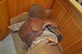 Vtg U.S.A. Army Colonel WHITMAN Co. Leather Western Horse Saddle Cincinn... - $237.39