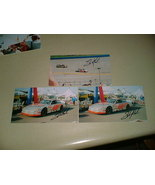 Sterling Marlin AUTOGRAPHED Nascar photo 2001 3 pics & Autos - $8.99