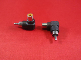2PCS RCA Male to Female Right Angle Adapter 90 Degree, Black. - $3.99