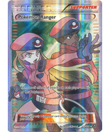 Pokemon Ranger 113/114 Full Art Ultra Rare XY Steam Siege Pokemon Card - $7.99