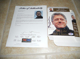 President Bill Clinton Signed Autographed My Life Audio Book Cover PSA C... - $599.99