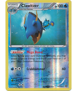 Clawitzer 34/114 Rare Reverse Holo XY Steam Siege Pokemon Card - $1.79