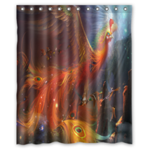 Fantasy Peacock Shower Curtain Waterproof Made From Polyester - $29.07+