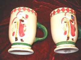 2 Oxford Elite Snowman Mug Christmas Hand Painted - $14.95