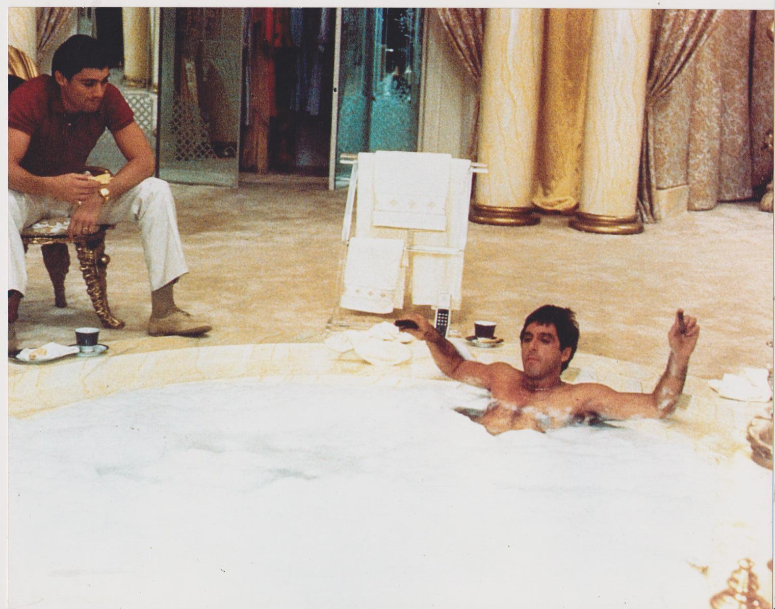 Image result for scarface in the tub