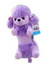 Cute Dog Plush Pencil Case Pen Bag Pouch Purple Poodle - $17.98