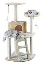 Go Pet Club Cat Tree Condo House, 32W x 25L x 47.5H Inches, Beige - $89.00