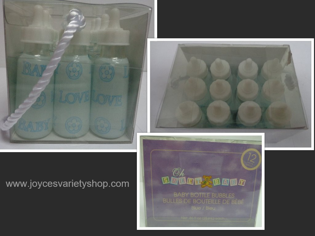Baby bottles shower gifts collage