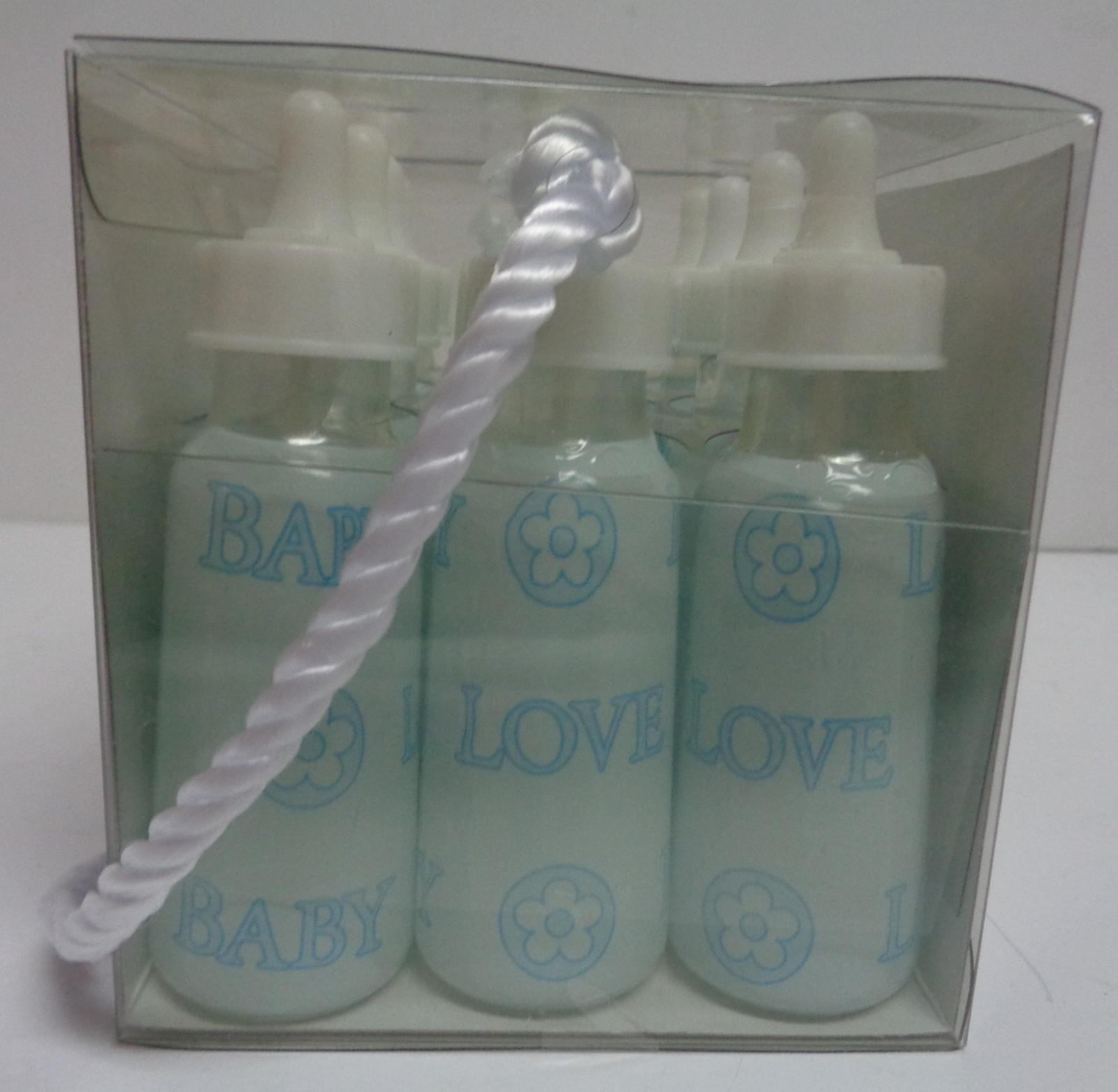 Boy Shower Gifts Blue Bubbles Baby Bottles NIB Set of Twelve