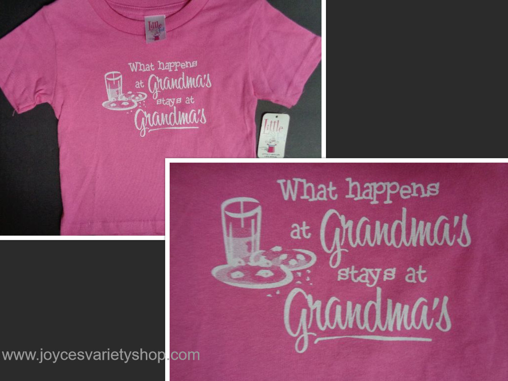 Primary image for WHAT HAPPENS AT GRANDMA'S STAYS AT GRANDMA'S Toddler T-Shirt NWT Sz 2T