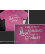 WHAT HAPPENS AT GRANDMA'S STAYS AT GRANDMA'S Toddler T-Shirt NWT Sz 2T - $8.25