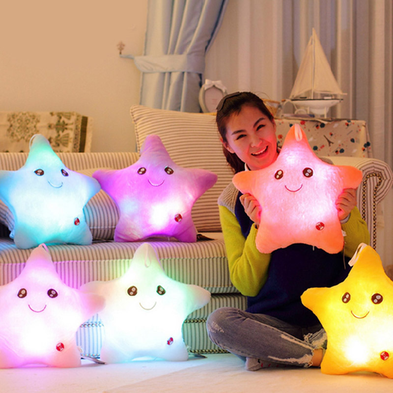 Colorful Body Pillow Star Glow LED Luminous Light Pillow Cushion Soft Relax  for sale