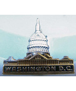 Washington D.C. Vintage Figural Capital Pin Sil... - $7.50