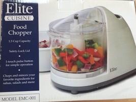 Elite Cuisine Food Chopper 1.5 Cup Model EMC-00... - $10.00