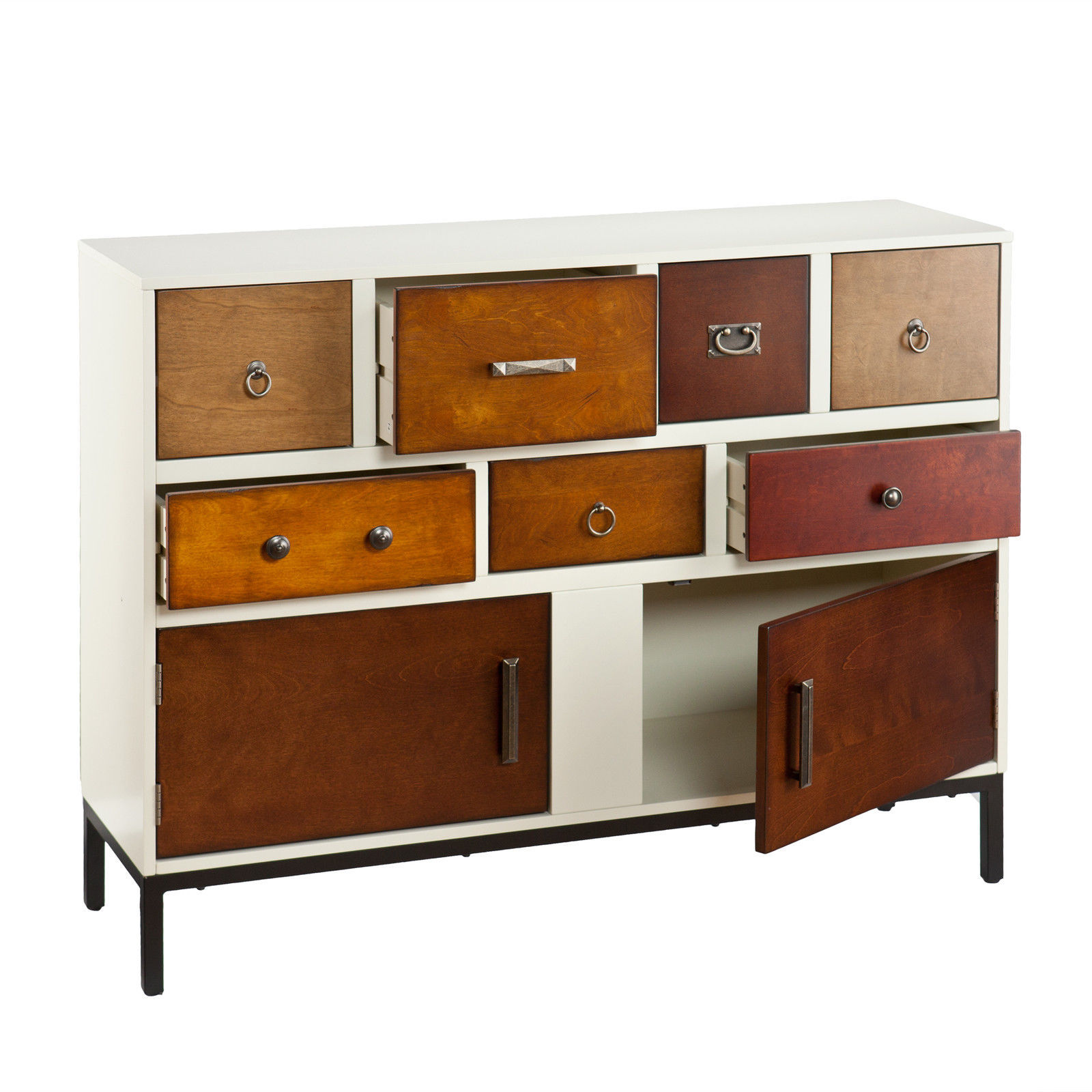 Very Impressive portraiture of Wooden Multi Drawer Style Living Room Side Accent Sofa Console Table  with #AD5301 color and 1600x1600 pixels