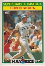 Ruben Sierra 1988 Topps Kay Bee Card #28 - $0.99