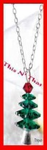 Christmas Necklace Holiday Motif Tree Shape Pendant NIB - $14.80