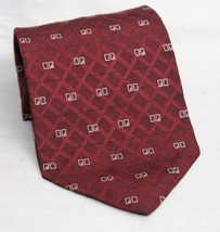 Alexander Julian Colours Maroon with Design Men's 100% Silk Necktie  - €4,69 EUR