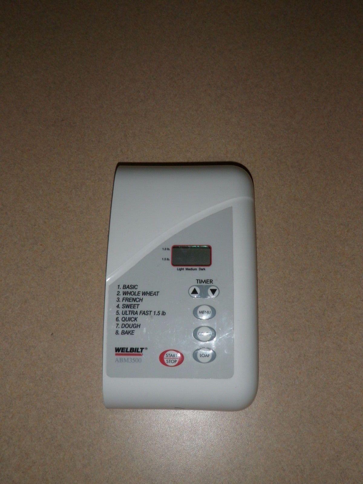 Welbilt Bread Machine Control Panel Model ABM3500 - $28.04