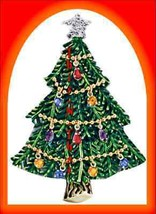 Christmas PIN Avon Collectible Tree Goldtone Collectble Dangling Ornamen... - $29.65