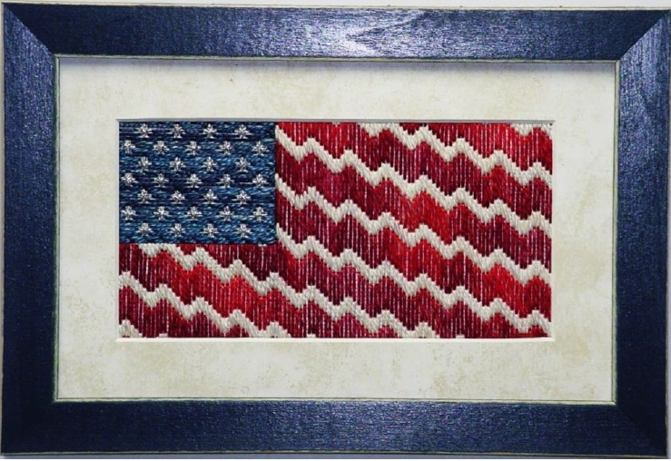 Together We Stand patriotic NEEDLEPOINT chart Handblessings - $12.50