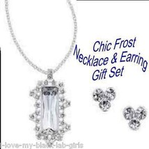 Necklace Earring Chic Frost Necklace/Earrings Gift Set ~Silvertone~ NEW ... - $24.70