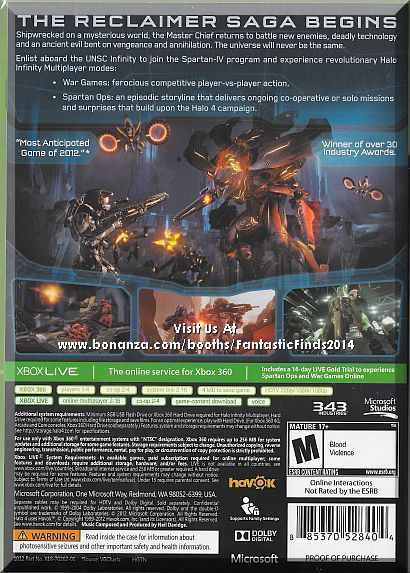 A Rated Games For Xbox 360 : Xbox halo limited edition brand new