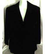 Black Velvet Blazer Size Large Button Down  - $9.99