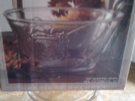1 New American Bouquet 9 1/2'' Crystal Serving Bowl - $29.99