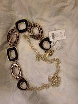 Chico's Dorrinda Style Leopard Theme Chain Belt NWT $69 Size M/L - $24.99