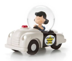 Hallmark Peanuts Lucy in Common Sense Patrol Car Snow Globe New  - $19.99