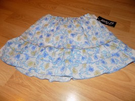Girl's Size Large Joey B White Blue Floral Flower Print Above Knee Skirt... - $15.00