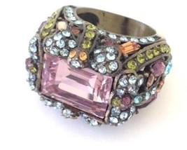 Heidi Daus Jewelry Swarovski Crystal Ring 6 Dragonfly Whimsical Designer... - £57.99 GBP