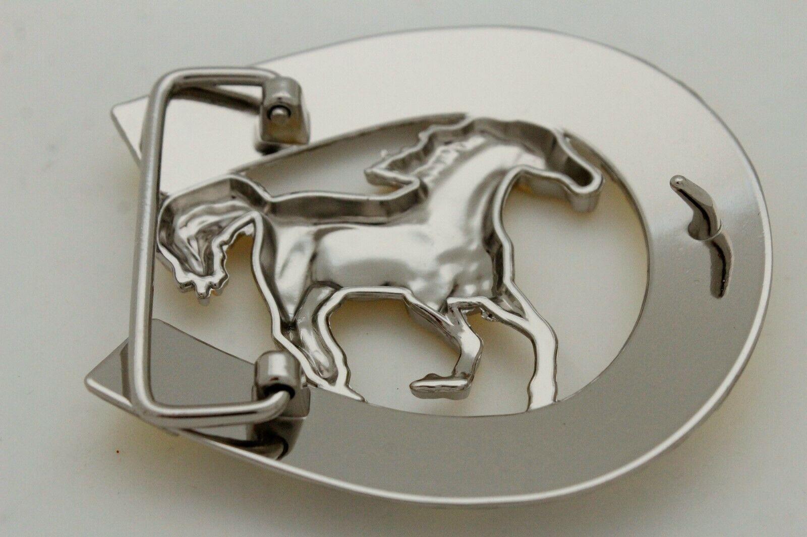 Hombre Western Cowboys Cinturón Hebilla Metal Plateado Caballo Rodeo Detalle image 5