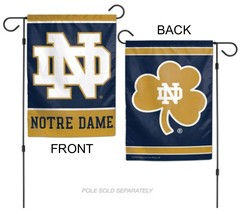 "University of Notre Dame Fighting Irish 12"" x 18"" Premium Decorative Garden Flag - $14.95"