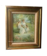 Edwardian Ladies at the Park ~ original acrylic painting - $200.00