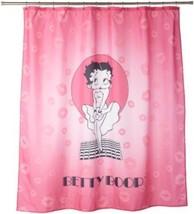 Betty Boop Fabric Shower Curtain Pink Background Coordinates Best Design... - $34.10