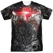 DC Justice League Movie Cyborg Uniform Costume Outfit Allover FRONT T-shirt top - $26.99+
