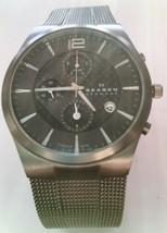 Skagen Men's Titanium Chronograph Slim Watch 906XLTTM MSRP$225.00 Store ... - $90.25