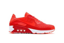 MEN'S NIKE AIR MAX 90 ULTRA 2.0 FLYKNIT SHOES crimson 875943 600 MSRP - $80.22