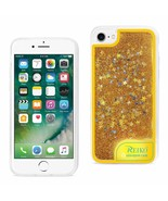 Reiko iPhone 7/8/SE2 Case With Flowing Glitter And Led Effect In Yellow DTPU06-I - $13.95