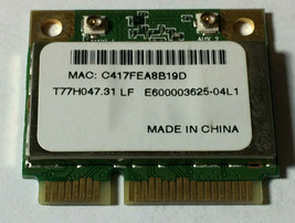 ACER ASPIRE 5532 WIFI Wireless Card AR5B93 T77H047.31 LF New Dell, Asus,... - $6.44