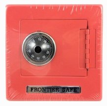 Ruksikhao Frontier Safe - Metal Bank with Combination Lock - RED - $16.97