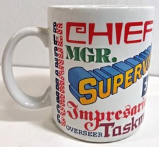 Coffee Mug For Boss Chief Commander Kingpin Brass Captain Exec Hallmark Cards - $48.19