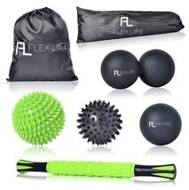 Flex Life Massage Ball Set & Muscle Roller Stick Massager - 2 Spiky Ball - $43.90