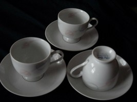 MIKASA Serenade  Pink  cup and saucer set (8 available) - $15.99
