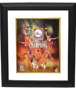 Earl Cureton signed Philadelphia 76ers 16x20 Photo Custom Framed Collage... - $199.00