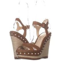 Jessica Simpson Aeralin Wedge Slingback Sandals 314, Sun Tan, 9.5 US - $34.55